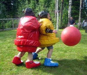 аренда аттракциона сумо футбол фото